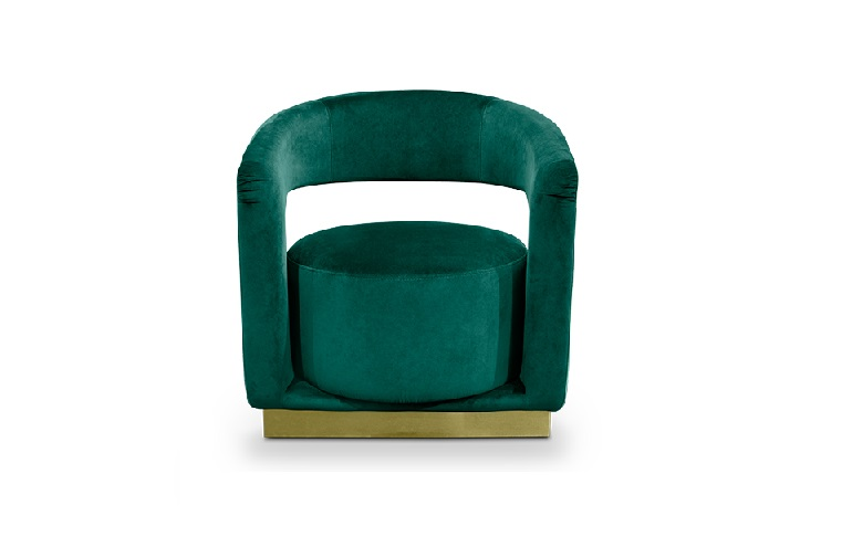 Ellen armchair from Essential Home world's favorite color How To Decorate Luxury Bathrooms With The World's Favorite Color How To Decorate Luxury Bathrooms With The Worlds Favorite Color 1 2