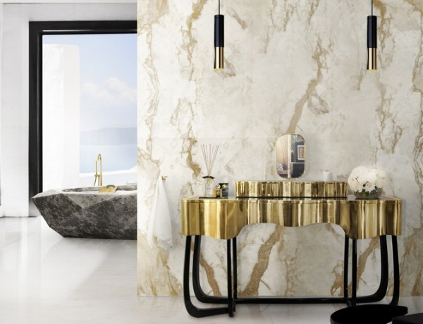 How to Make your Bathroom Look More Expensive. To see more Luxury Bathroom ideas visit us at www.luxurybathrooms.eu #luxurybathrooms #homedecorideas #bathroomideas @BathroomsLuxury How to Make your Bathroom Look More Expensive How to Make your Bathroom Look More Expensive 11 sinuous dressing table mandy stool diamond bathtub maison valentina HR 600x460