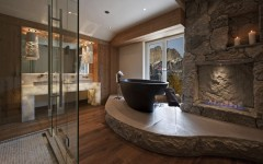 15 Luxury Bathrooms with Astonishing Fireplaces. To see more Luxury Bathroom ideas visit us at www.luxurybathrooms.eu #luxurybathrooms #homedecorideas #bathroomideas @BathroomsLuxury 15 luxury bathrooms with astonishing fireplaces 15 Luxury Bathrooms with Astonishing Fireplaces 15 luxury bathrooms with fireplaces 240x150