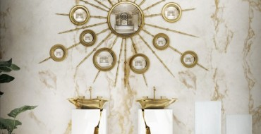 Marble Bathroom Designs to Inspire You. To see more Luxury Bathroom ideas visit us at www.luxurybathrooms.eu #luxurybathrooms #homedecorideas #bathroomideas @BathroomsLuxury Marble Bathroom Designs to Inspire You Marble Bathroom Designs to Inspire You 8 lapiaz freestand apollo mirror maison valentina HR 370x190