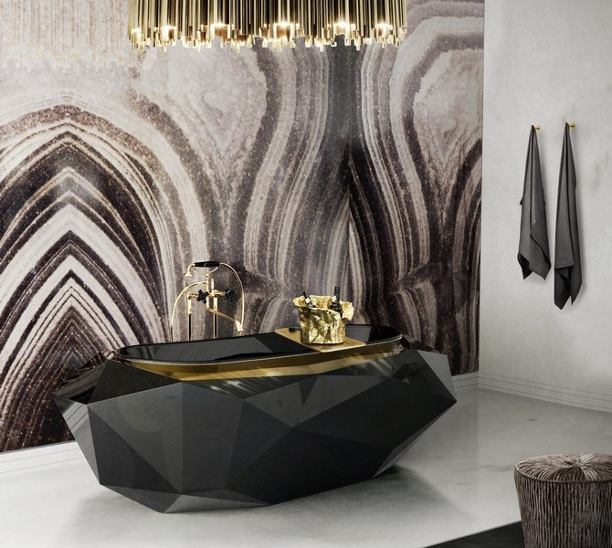 Modern Luxury Bathrooms That You Will Love Modern Luxury Bathrooms That You Will Love 9 diamond bathtub matheny suspension maison valentina HR 670x600