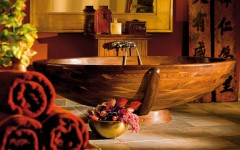 10 Relaxing and Unique Wooden Bathtubs You Will Love Have ➤To see more Luxury Bathroom ideas visit us at www.luxurybathrooms.eu #luxurybathrooms #homedecorideas #bathroomideas @BathroomsLuxury unique wooden bathtubs 10 Relaxing and Unique Wooden Bathtubs You Will Love to Have 10 Relaxing and Unique Wooden Bathtubs You Will Love Have 240x150