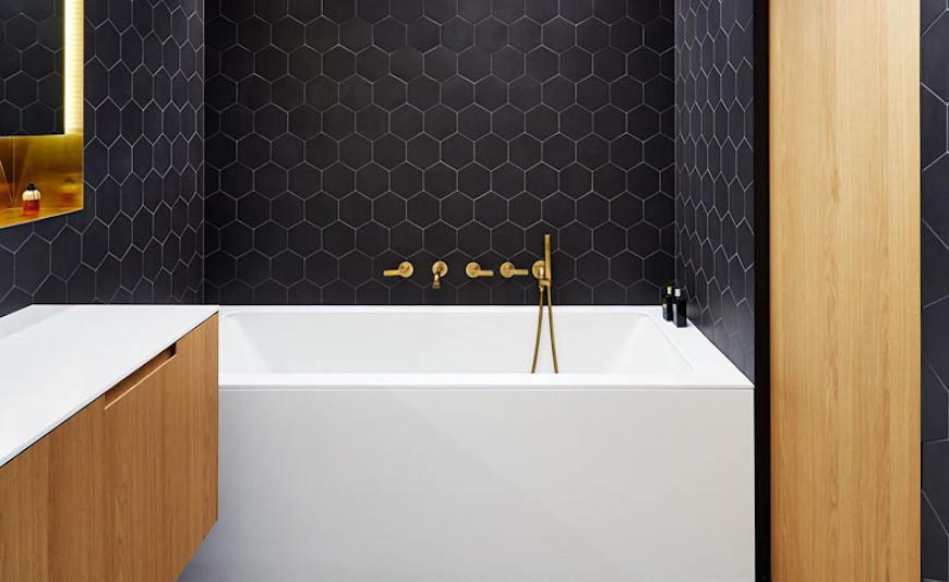 Bathroom Ideas How To Combine Black Brass White And