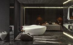 Zaha Hadid's Luxury Bathroom Design Zaha Hadid's Luxury Bathroom Design For Porcelanosa zaha hadid architects porcelanosa vitae collection bathroom designboom 1800feat 240x150