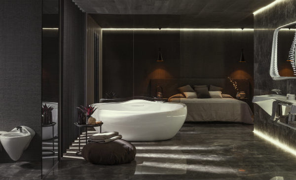 Zaha Hadid's Luxury Bathroom Design Zaha Hadid's Luxury Bathroom Design For Porcelanosa zaha hadid architects porcelanosa vitae collection bathroom designboom 1800feat 600x365
