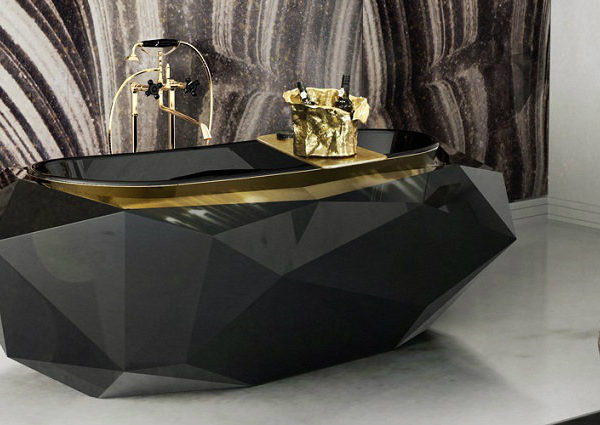 stunning black bathtub Luxury Bathrooms: Stunning Black bathtub Ideas to Inspire You diamond bathtub 4 600x425
