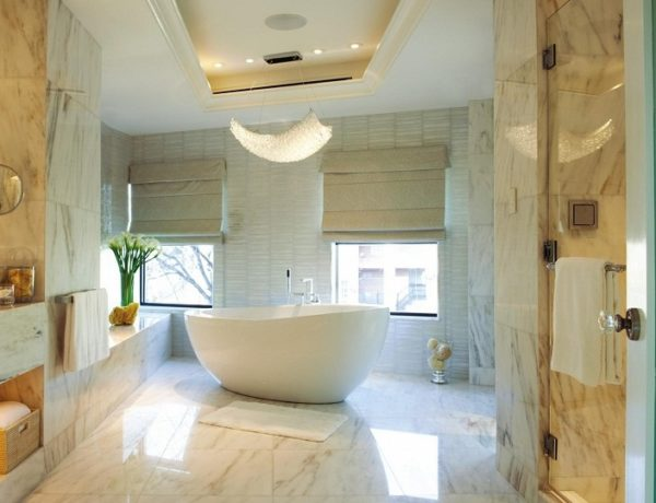 Luxury Bathrooms: 50 DECORATING IDEAS FOR BATHROOM SETS home decorating ideas for bathroom sets 50 Jaw-dropping Home Decorating Ideas for Bathroom Sets best colors for bathrooms without windows Copy 600x460
