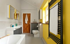 gray and yellow bathroom How To Get A Trendy And Refreshing Gray And Yellow Bathroom feat 10 240x150