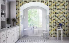 luxury bathroom 50 Unique Accessories To Make Your Luxury Bathroom Sparkle Even More orla kiely 4 240x150