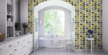 luxury bathroom 50 Unique Accessories To Make Your Luxury Bathroom Sparkle Even More orla kiely 4 370x190
