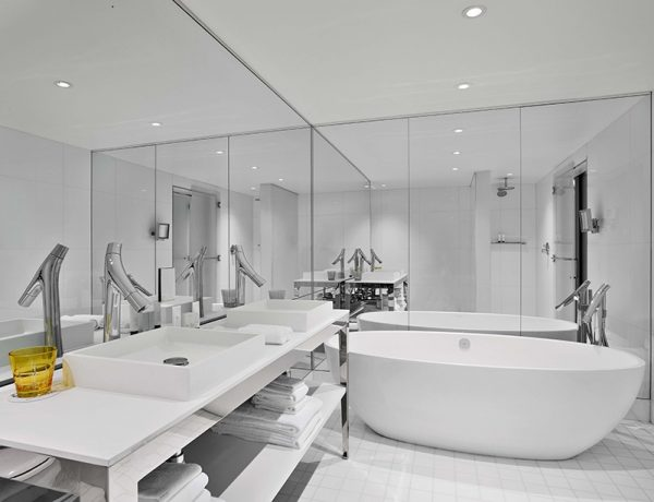 sls brickell hotel Get Inside The Stunning Bathrooms From The Unique SLS Brickell Hotel SLS brickell miami related group arquitectonica designboom 07 1 600x460