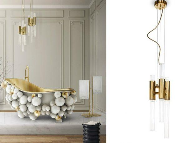 Unique Suspension Lamps 5 Unique Suspension Lamps To Enhance Luxury Bathrooms Decor feat 15 600x460