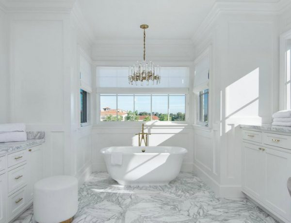 bathroom designs Gaze at 10 of the Most Exquisite Bathroom Designs from Celebrity Homes featured 16 600x460