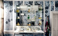 bathroom wallpaper This Vibrant Bathroom Wallpaper by Kate Moss Is Out of this World featured 12 240x150