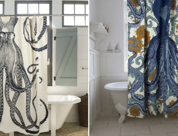 Luxury Shower Curtains Add a New Aesthetic to Your Bathroom with these Luxury Shower Curtains featured 600x460