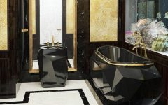 Bathroom Design Project See an Awe-Inspiring Bathroom Design Project in Darker and Gold Tones featured 240x150
