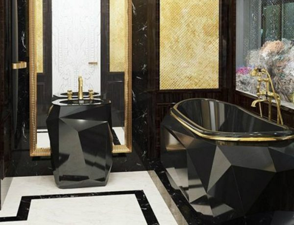 Bathroom Design Project See an Awe-Inspiring Bathroom Design Project in Darker and Gold Tones featured 600x460