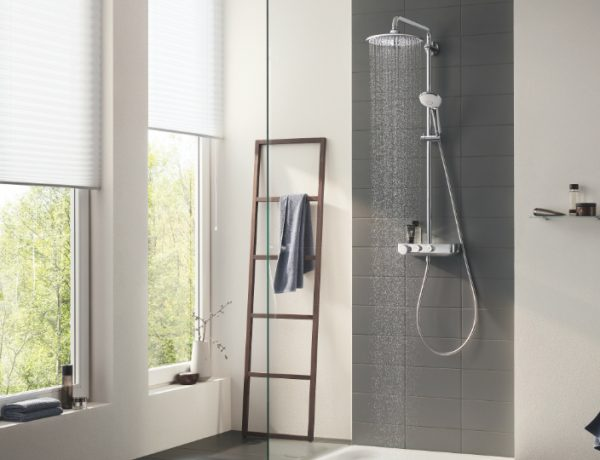 bathroom shower system Euphoria Smartcontrol is the New Bathroom Shower System by GROHE featured 1 600x460