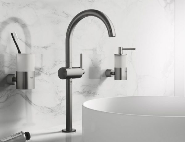 minimalist bathroom Appreaciate the Design of Minimalist Bathroom Faucets by Grohe featured 27 600x460