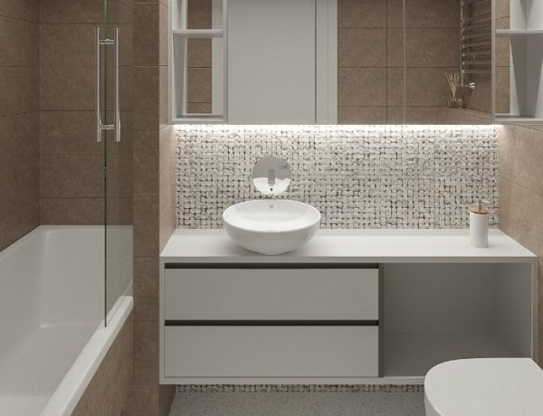 Scandinavian Style Bathroom This Outsanding Kiev Apartment Features a Scandinavian Style Bathroom featured 20 600x460