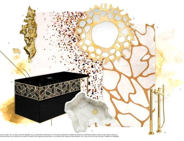 Bathroom Trends Report - Neutrals Are The New Black and Gold
