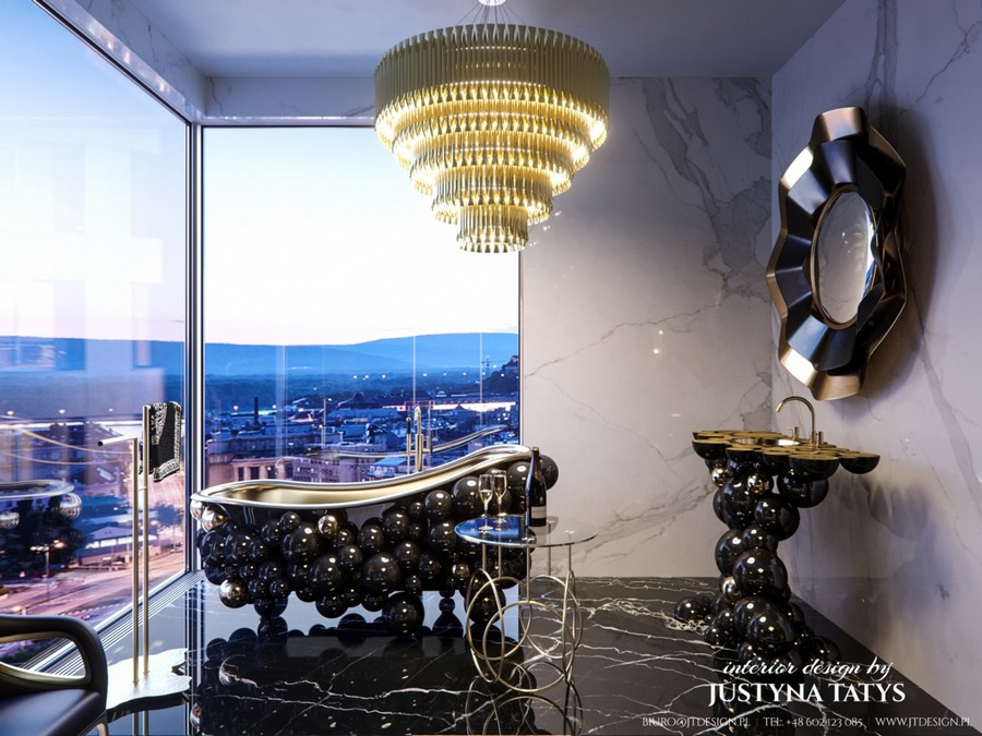 Justyna Tatys Created A Unique Luxury Bathroom For The ZŁOTA 44 Tower justyna tatys Justyna Tatys Created A Unique Luxury Bathroom For The ZŁOTA 44 Tower Justyna Tatys Created A Unique Luxury Bathroom For The Z  OTA 44 Tower 4