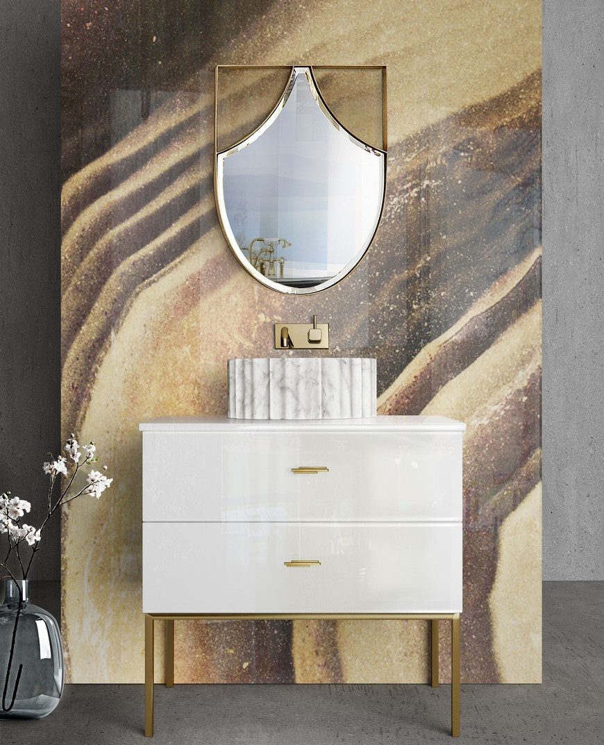 5 Gold-Accented Wall Mirrors To Enhance Your Luxury Bathroom Decor luxury bathroom 5 Gold-Accented Wall Mirrors To Enhance Your Luxury Bathroom Decor 5 Gold Accented Wall Mirrors To Enhance Your Luxury Bathroom Decor 2