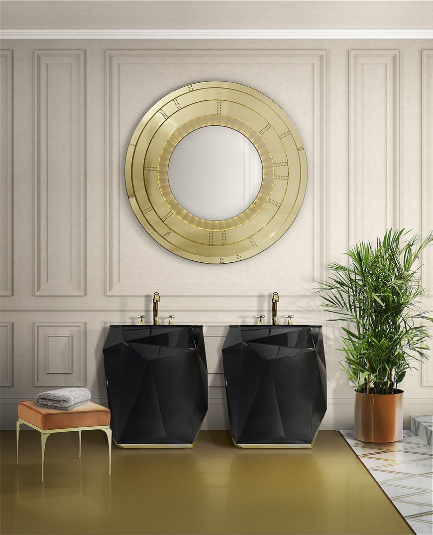 5 Gold-Accented Wall Mirrors To Enhance Your Luxury Bathroom Decor luxury bathroom 5 Gold-Accented Wall Mirrors To Enhance Your Luxury Bathroom Decor 5 Gold Accented Wall Mirrors To Enhance Your Luxury Bathroom Decor 5