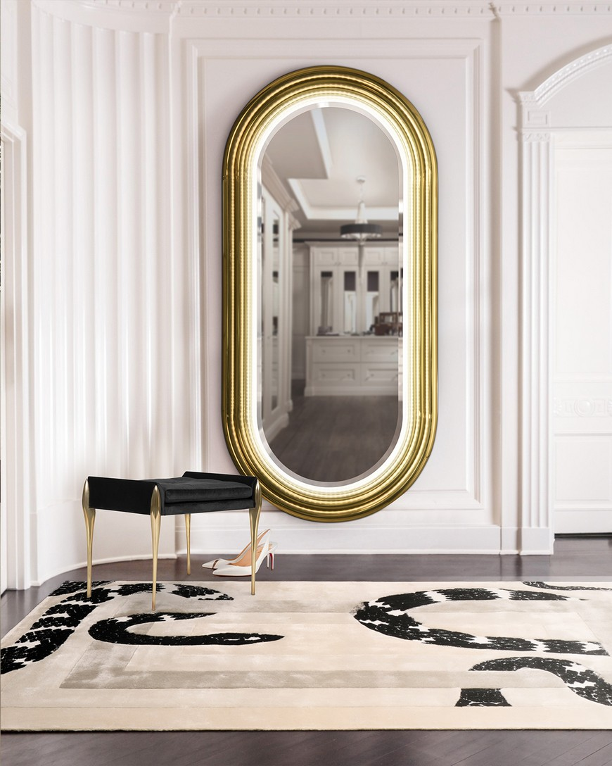 5 Gold-Accented Wall Mirrors To Enhance Your Luxury Bathroom Decor luxury bathroom 5 Gold-Accented Wall Mirrors To Enhance Your Luxury Bathroom Decor 5 Gold Accented Wall Mirrors To Enhance Your Luxury Bathroom Decor