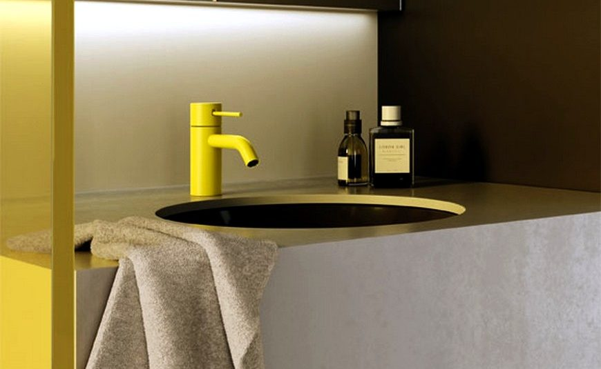 small bathroom design project Organize Your Small Bathroom Design Project With These Pinterest Tips How Dornbracht Gave A Modern Twist To A Classic Brass Mixer Tap capa 2 870x535