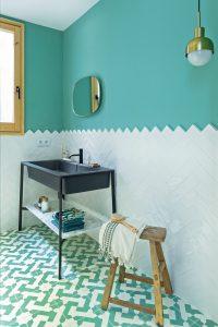 colourful bathrooms bathroom Colourful Bathroom Ideas: Inside Noé Prades' Forest 140775 200x300