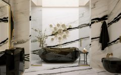 marble bathrooms Gorgeous Black and White Marble Bathrooms You Won't Be Able to Resist Marble Bathrooms 1 240x150