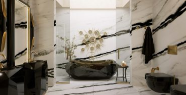 marble bathrooms Gorgeous Black and White Marble Bathrooms You Won't Be Able to Resist Marble Bathrooms 1 370x190