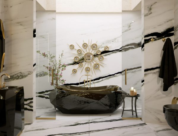 marble bathrooms Gorgeous Black and White Marble Bathrooms You Won't Be Able to Resist Marble Bathrooms 1 600x460