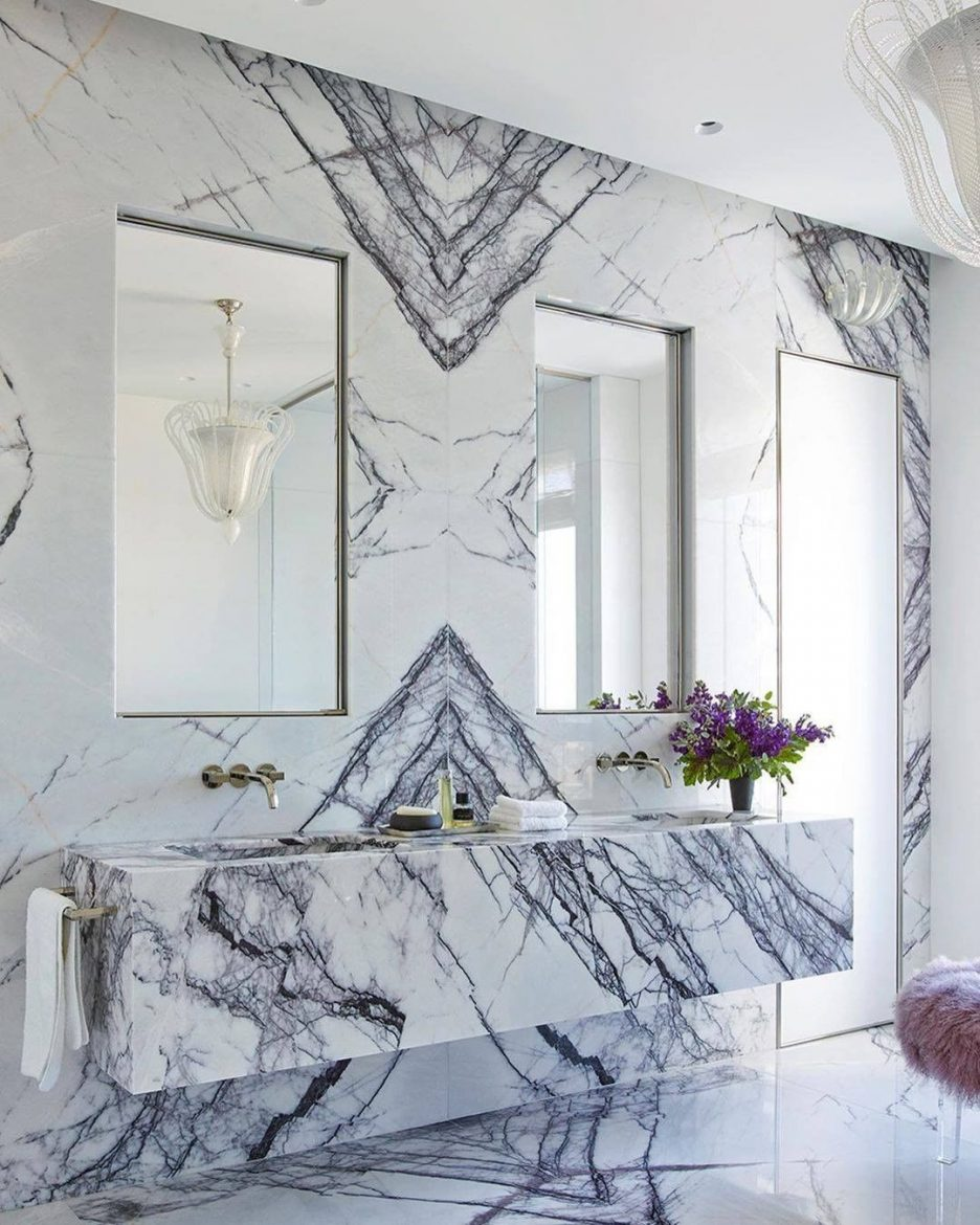 Marble Bathrooms, maison valentina, freestanding, bathtub, marble, bathroom, bathrooms design marble bathrooms Gorgeous Black and White Marble Bathrooms You Won't Be Able to Resist Nika Takesh Marble Bathroom scaled