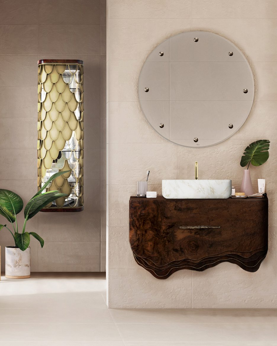 small bathroom decors 6 Ideas to Create Small Bathroom Decors that Will Make a Statement Bathroom with Wood Accents 4 scaled