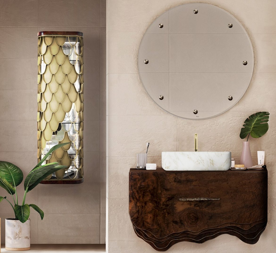 small bathroom decors 6 Ideas to Create Small Bathroom Decors that Will Make a Statement Bathroom with Wood Accents 4 2 scaled