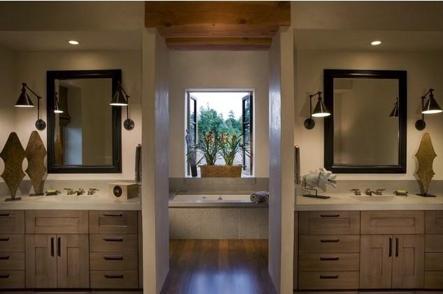 luxury bathroom 24 Stunning Luxury Bathroom Ideas For His-and-Hers Bathroom Sinks 9 7 2