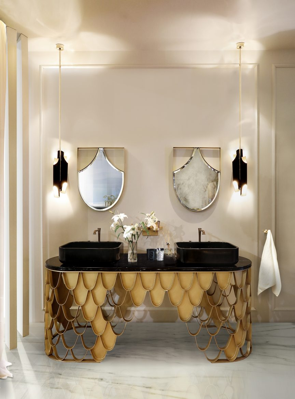 luxury bathroom 24 Stunning Luxury Bathroom Ideas For His-and-Hers Bathroom Sinks His and Hers Bathrooms jpg scaled