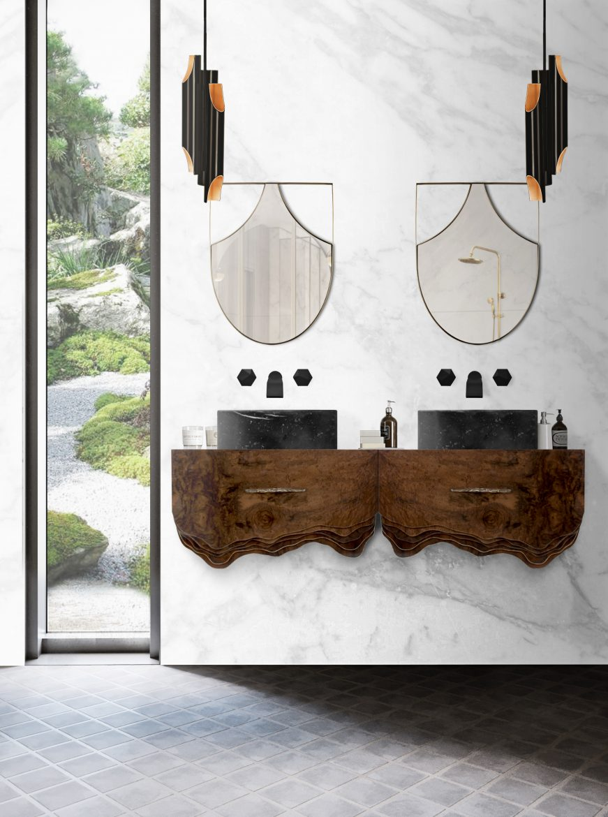Elevate Your Bathroom Decor With Suspension Cabinets
