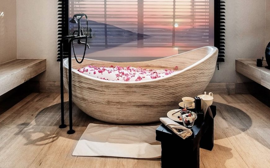 luxury bathroom 24 Stunning Luxury Bathroom Ideas For His-and-Hers Bathroom Sinks Top 5 Most Amazing Hotel Bathrooms in the Middle East 870x540