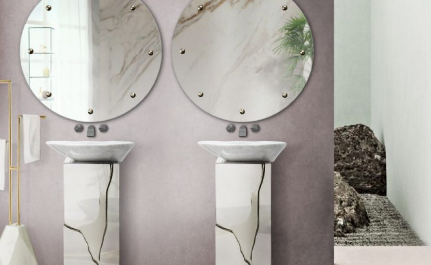 luxury bathroom 24 Stunning Luxury Bathroom Ideas For His-and-Hers Bathroom Sinks scandinavian bathroom 2 870x535