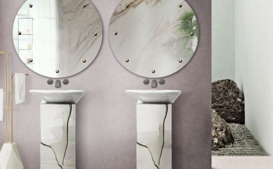 luxury bathroom 24 Stunning Luxury Bathroom Ideas For His-and-Hers Bathroom Sinks scandinavian bathroom 2 870x540