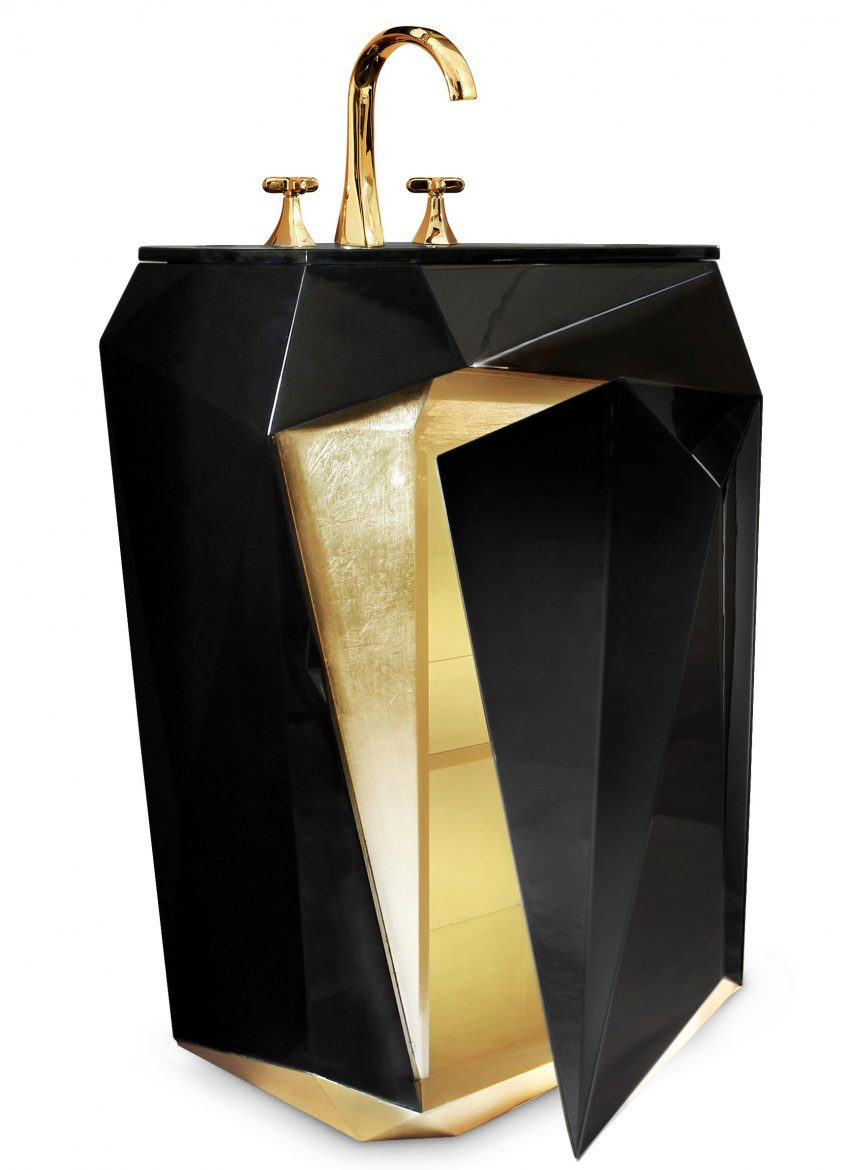 Glamorous Freestandings  freestandings 15 Freestandings That Bring Extra Glamour to Your Bathroom diamond freestands scaled