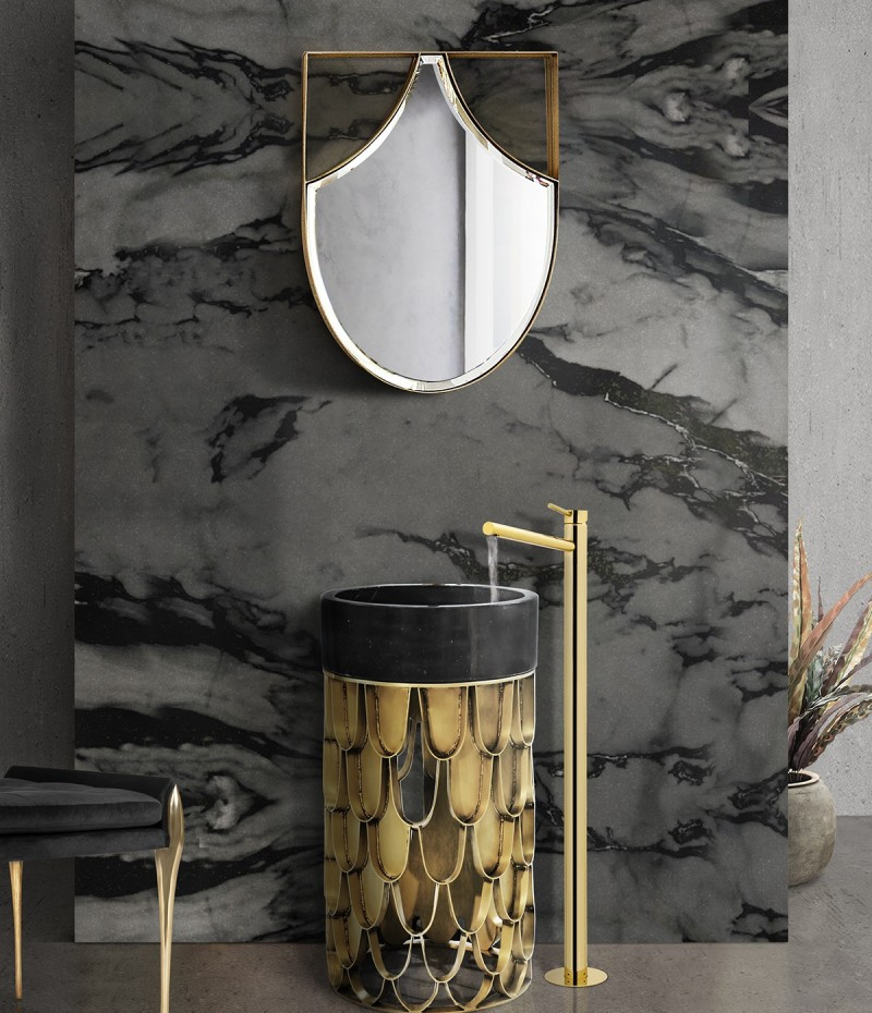 Glamorous Freestandings  freestandings 15 Freestandings That Bring Extra Glamour to Your Bathroom glamorous freestandings