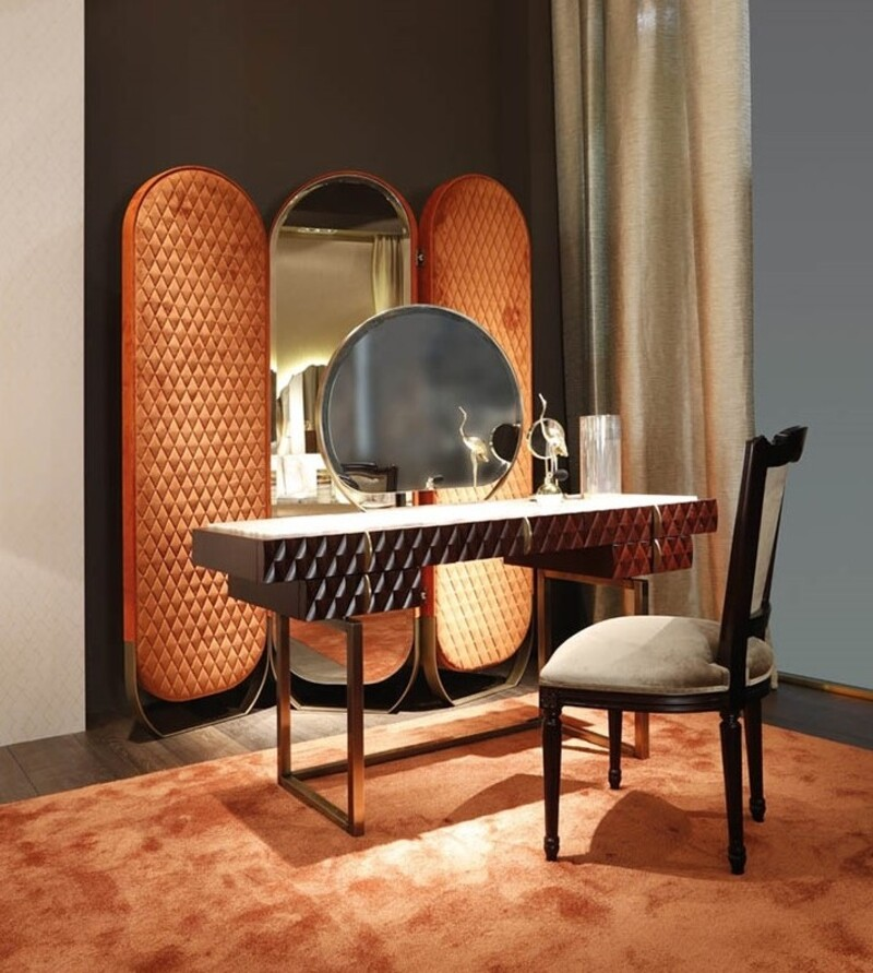 Dressing Tables: 15 Examples of Dazzling Items You Cannot Miss! dressing tables Dressing Tables: 15 Examples of Dazzling Items You Cannot Miss! 15 Dressing Tables That Will Leave You Breathless in 2021 6
