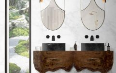 mirrors Mirrors: 25 Prime Examples of Luxurious Choices For Your Bathroom Mirrors That Impress Beautiful Shining Surfaces That Match Your Beauty5