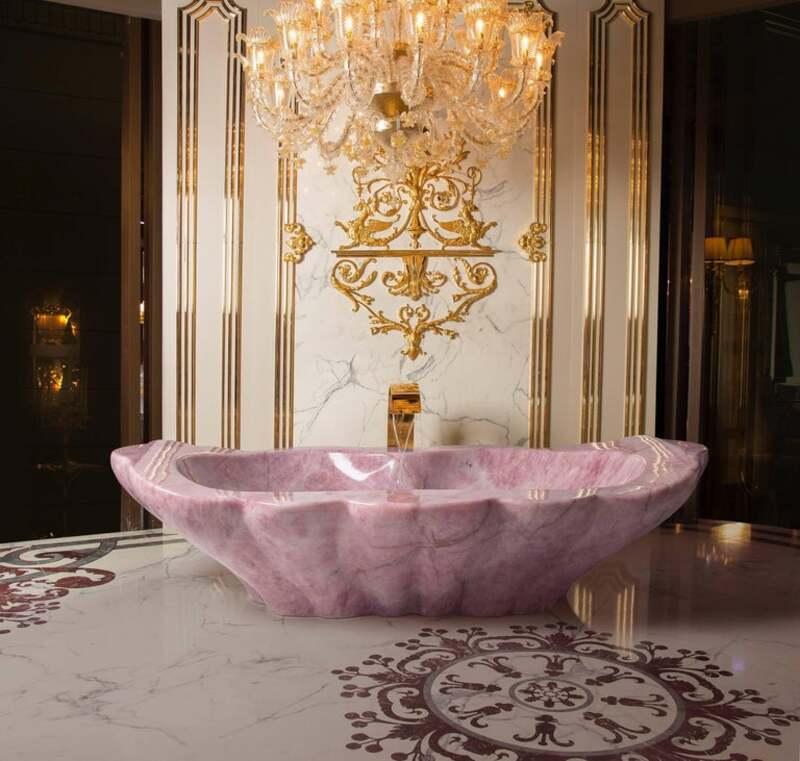 luxury bathroom decor Your Luxury Bathroom Decor Needs A Rose Quartz Crystal Bathtub! ROSE QUARTZ BALDI BATHTUB copia master 1