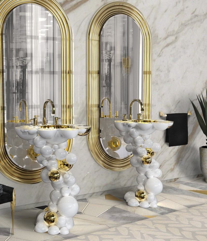 15 incredible Washbasins to Look Out for in 2021 incredible washbasins 15 Incredible Washbasins that will Amaze You In 2021 newton freestand colosseum mirror 1