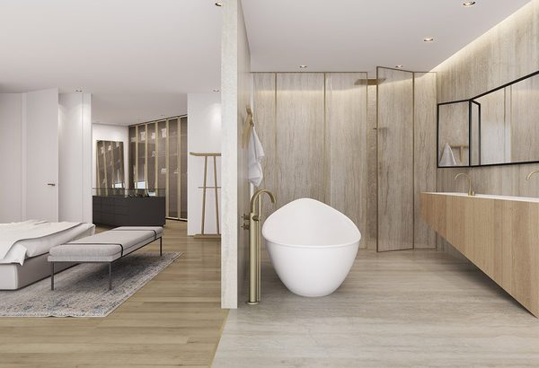 tal goldsmith Tal Goldsmith Fish and Sumptuous Minimalism: Bathrooms that Impress Bathrooms that Impress Tal Goldsmith Fish and Sumptuous Minimalism 1 AA House 600x410